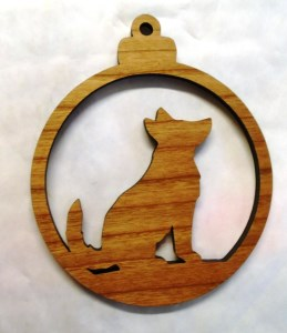 00045 Collie Christmas Decoration 259 x 300