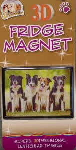 00221 Border Collies 2D Magnet 153 x 300