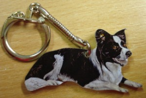 00261 Collie Lying Down Key Ring Original 300 x 202