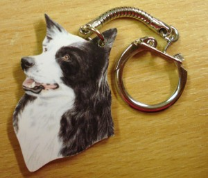 00263 Collie Head Key Ring Original 300 x 256