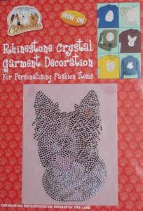 00269 Large coloured Rhineston Crystal decoration 204 x 300