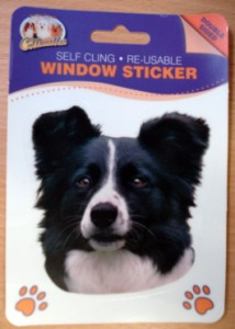 00399 Collie head sticker 214 x 300