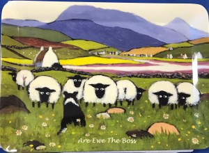 00457 Are Ewe The Boss Tray 300 x 220