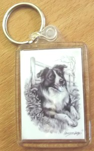 00773 Collie Keyring 187 x 300