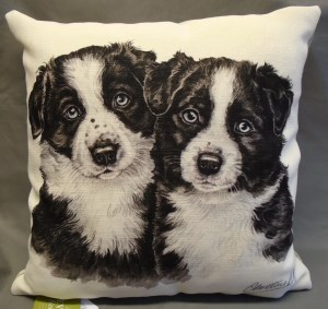 00785 Puppies Cushion Front 300 x 283