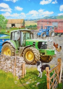 12051 The farmyard Blank Card 213 x 300