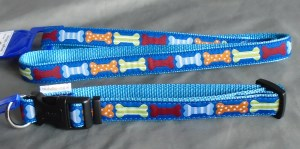 43693 43694 Blue Bone collar and lead 300 x 149