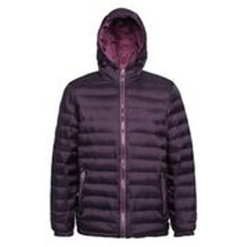 Hooded Padded Coat Aubergine Mulberry