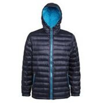 Hooded Padded Coat Navy Saphire