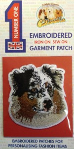 00272 Merle Sheep dog Patch 150 x 300