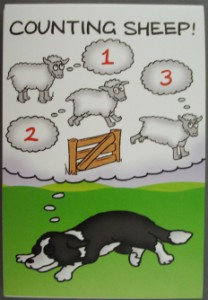 00388 Counting sheep Note pad 208 x 300
