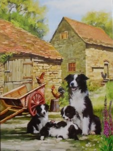 12020 Farmyard Collies Blank 225 x 300